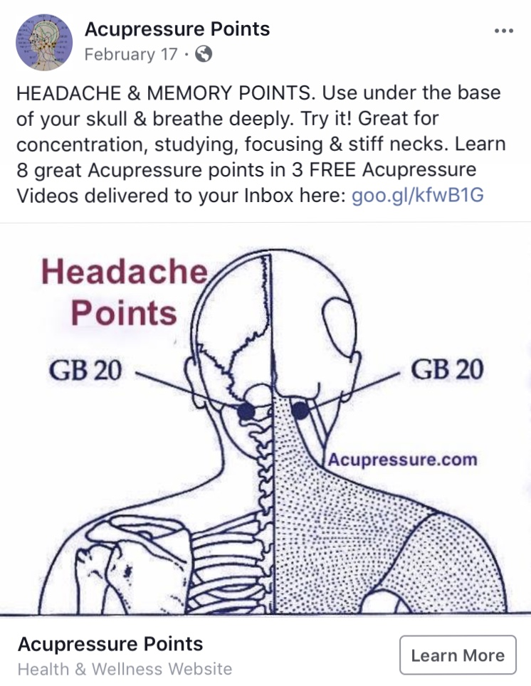 Acupressure for Vitality and Headaches – The Tao Blog
